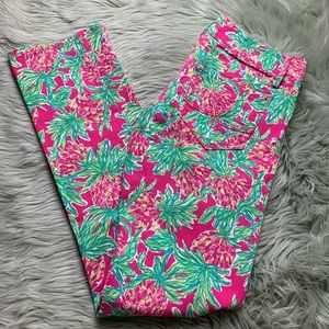 Lilly Pulitzer Pink Pineapple Print Straight Jeans